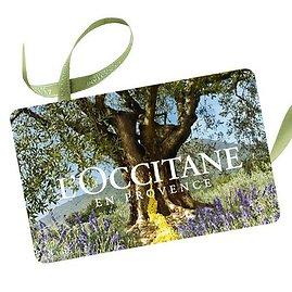 """""""L\'Occitane"""" dovanų čekis."""