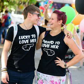 "AFP/""Scanpix"" nuotr./Homoseksualų eitynės Slovėnijoje"