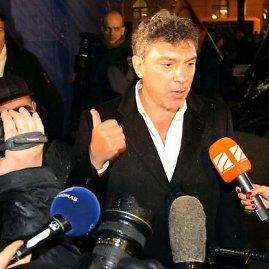 """""""Scanpix"""" nuotr./Mitingas Maskvoje, opozicijos lyderis Borisas Nemcovas"""
