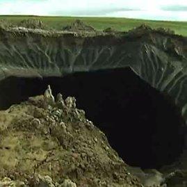Youtube kadras/Tyrėjai iš Rusijos pateikė naujų duomenų apie mįslingą kraterį Sibire
