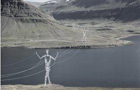 Stulbinanti architektų vizija Islandijai – elektros laidus nešantys gigantai