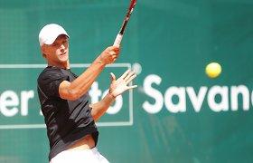 Lukas Mugevičius nesustojo po sensacingos pergalės ir pasiekė ketvirtfinalį