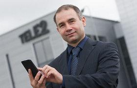 """""""Tele2"""" vadovas Petras Masiulis: žmonės perka vis geresnius telefonus, vartoja daugiau interneto"""