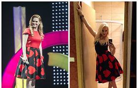Ona Kolobovaitė ir Natalija Bunkė pasipuošė tokiu pat sijonu: kuriai tinka labiau?