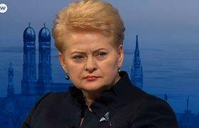 """Lietuvos prezidentė atrėžė Rusijos premjerui: """"Rusija kuria karštuosius konfliktus"""""""