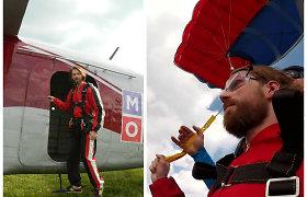 Modelis Jonas Stankevičius Joninių ir gimtadienio proga pirmąkart šoko parašiutu: žiūrėkite video
