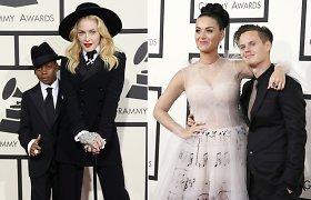 """Madonną į """"Grammy"""" apdovanojimus atlydėjo įsūnis, Katy Perry – brolis"""