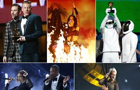 """""""Grammy"""" apdovanojimai: """"Daft Punk"""" bei Macklemore'o ir Ryano Lewiso triumfo vakaras"""
