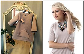 Siuvimą pamėgusi Nijolė Pareigytė parodė pirmą darbą – dukrai Patricijai sukurtą suknelę