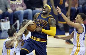"""""""Cavaliers"""" toliau nesustabdomi – įveikė absoliutų NBA lyderį """"Warriors"""" klubą"""