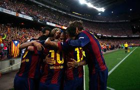 """Ispanijos taurės finale – """"Barcelona"""" triumfas, Lionelio Messi magija ir naujas rekordas"""