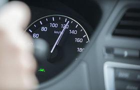 """Kauno policijos pamoka """"žaliam"""" VW vairuotojui: 123 km/val. – per greitai"""