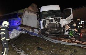 Estijoje susidūrė keleivinis autobusas ir vilkikas iš Lietuvos, 13 žmonių išvežta į ligoninę