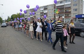 Paskutinis Panevėžio Juozo Miltinio gimnazijos skambutis tapo miesto švente