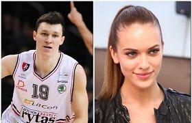 Vilniuje tuokiasi krepšininkas Žygimantas Janavičius ir jo išrinktoji, manekenė Laura Juozaitytė