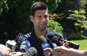 """Novakas Džokovičius: """"Rogeris Federeris įkvepia daugelį žmonių"""""""