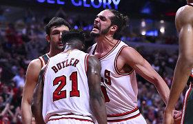 """Ketvirtajame kėlinyje spurtą surengę """"Buliai"""" antrą kartą patiesė """"Milwaukee Bucks"""""""