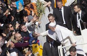 Popiežius Verbų sekmadienį pagerbė šių dienų kankinius