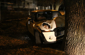 "Vilniuje automobilis ""Mini Cooper"" rėžėsi į medį"