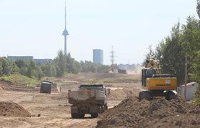 Vilniaus Vakarinio aplinkkelio III etapo kaimynus kankina dulkės, kelių laistymas menkai tepadeda