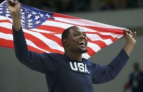 JAV spauda: amerikiečiai į olimpiadą turėtų siųsti universiteto žaidėjus