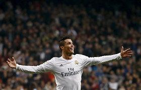 """Cristiano Ronaldo: """"Madride žaisiu iki kontrakto pabaigos"""""""