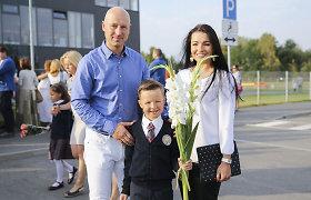 """Milisandros ir Algirdo Radzevičių sūnus Rokas pradėjo lankyti mokyklą: """"Tai labai jaudinanti akimirka"""""""