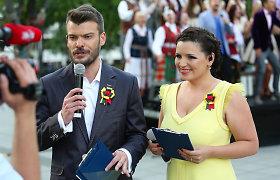 """Vilniaus Vinco Kudirkos aikštėje giedoti """"Tautišką giesmę"""" kvietė Mindaugas Rainys ir Renata Šakalytė-Jakovleva"""