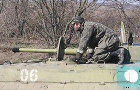 Per separatistų atakas žuvo dar vienas Ukrainos karys