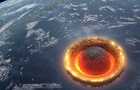 Kvapą užimantis vaizdas: kas būtų, jeigu į Žemę rėžtųsi 500 km skersmens asteroidas?