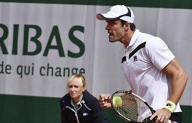"""Teimurazas Gabašvilis pasiekė """"Roland Garros"""" turnyro aštuntfinalį"""