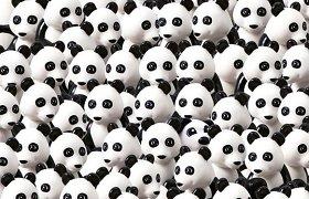 """""""Lego"""" galvosūkis: ar tarp pandų matote ir šunį?"""