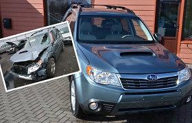 """Nagingų meistrų atgaivinto """"Subaru Forester"""" pardavėjas """"lietuvių neapgaudinėja"""" – automobilis skirtas eksportui"""