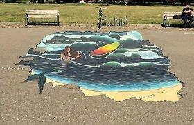 Vingio parke – jūros lopinėlis: stok ant lentos ir skrosk bangas