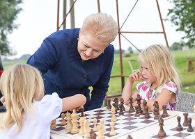 Prezidentės apsilankymas Tulpiakiemio vaikų dienos centre