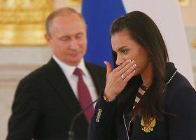 Vladimiras Putinas išlydi Rusijos olimpiečius į Rio