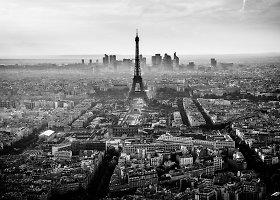 Žavinga Prancūzija nespalvotose nuotraukose
