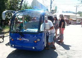 Žvilgsnis į Odesą iš elektromobilio