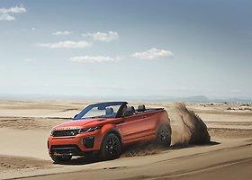 """Vasaros pranašas """"Range Rover Evoque Convertible"""" užsuks į Lietuvą"""