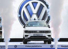 """Vilniuje iš padebesių nusileido """"Volkswagen Tiguan"""""""