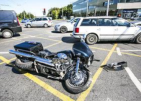 """Vilniuje – motociklo ir """"Audi"""" susidūrimas"""