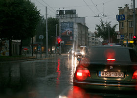 Lietus užliejo Kauno gatves