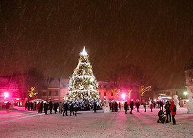 Paskutinį metų sekmadienį Kauno gatves nuklojo sniegas