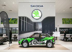 """""""Škoda Fabia R5"""" ralio automobilio pristatymas"""