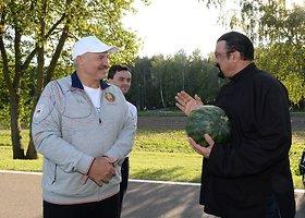 Aliaksandro Lukašenkos ir Steveno Seagalo susitikimas