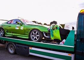 "Apgadintas Tomo Sveikausko automobilis ""Toyota Supra"""
