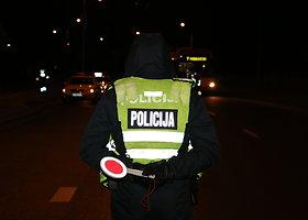 Įtemptas policijos reidas Vilniuje