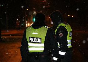 Sostinės policijos reidą nutraukė šlapdriba