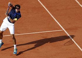 """Stanas Wawrinka šeštą kartą pateko į """"Roland Garros"""" aštuntfinalį"""