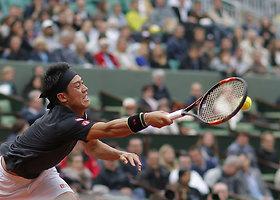 "Ketvirtasis ""Roland Garros"" etapas: Kei Nishikoris – Richardas Gasquet"